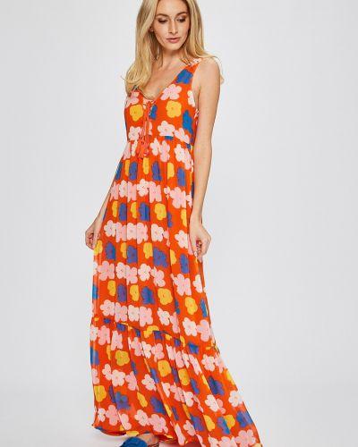 Джинсовое платье макси расклешенное Andy Warhol By Pepe Jeans