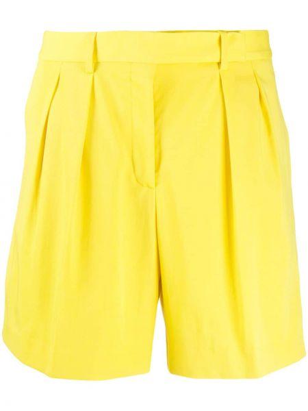 Однобортные желтые шорты с карманами Paul Smith