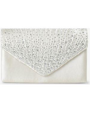 Beżowa kopertówka elegancka z paskiem Apriori