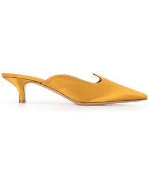 Желтые мюли на каблуке Le Monde Beryl