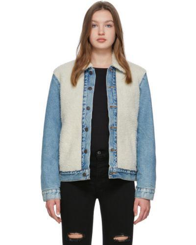 Сатиновая прямая синяя джинсовая куртка на пуговицах Levi's®