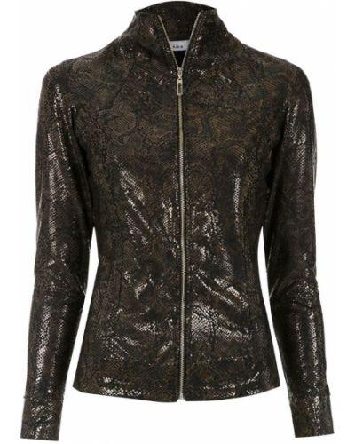 Черная длинная куртка Amir Slama