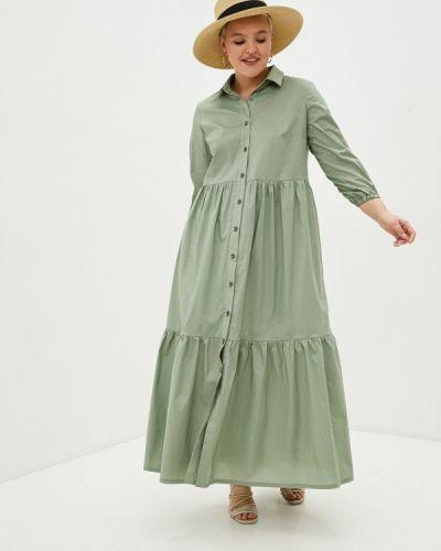 Зеленое платье-рубашка Mankato