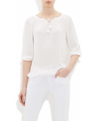 Базовая бежевая блузка из вискозы Mavi