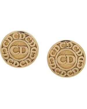Серьги позолоченные - желтые Christian Dior Pre-owned