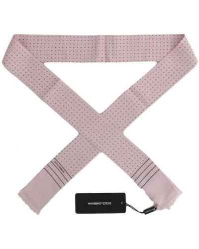 Różowy szalik z jedwabiu Dolce And Gabbana