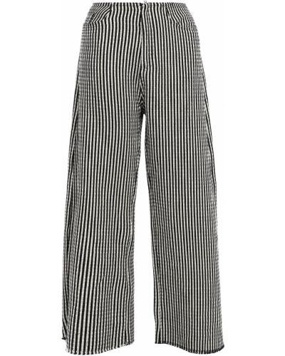 Spodnie bawełniane - czarne Marques Almeida