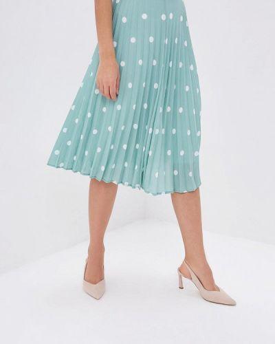 Плиссированная юбка зеленый Zarina