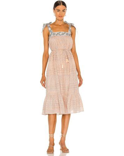 Sukienka midi bawełniana z printem Cleobella