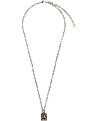 Серебряное ожерелье с вырезом Gucci