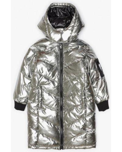 Куртка теплая серебряного цвета Acoola