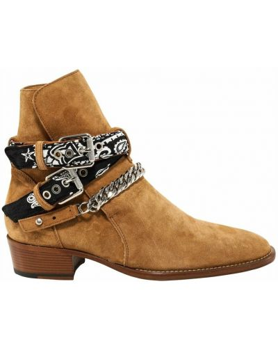 Beżowe ankle boots Amiri