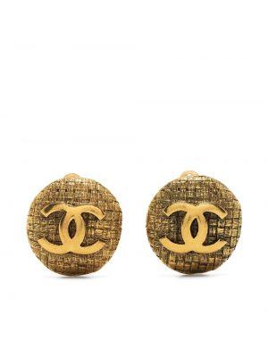 Kolczyki pozłacane Chanel Pre-owned