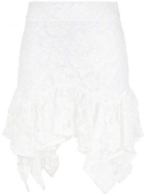 Асимметричная с завышенной талией белая юбка Amen.