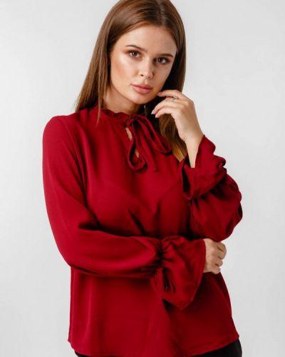 Блузка бордовый красная Lilove