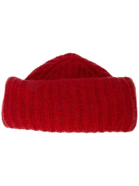 Prążkowany czapka beanie wełniany Marzi