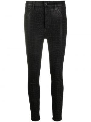Укороченные зауженные джинсы - черные J Brand