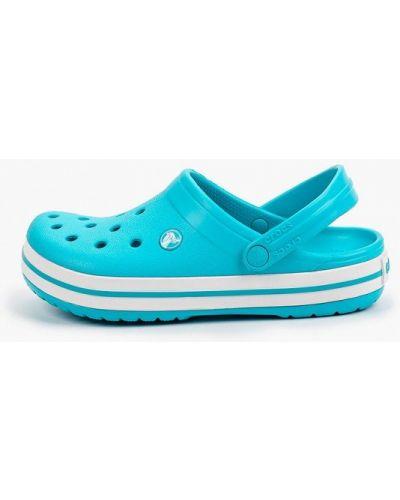 Голубые сабо летние Crocs