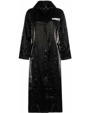 Черный длинное пальто на пуговицах Charm`s