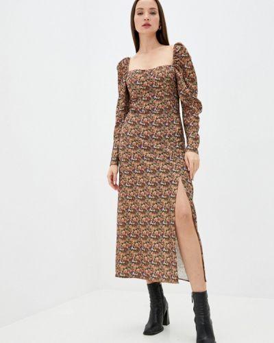 Коричневое прямое платье Imperial