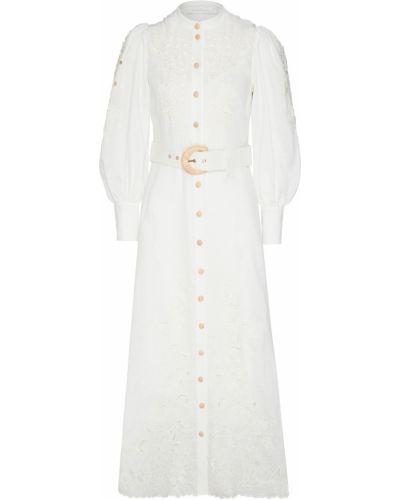 Платье с поясом с вышивкой платье-комбинация Zimmermann