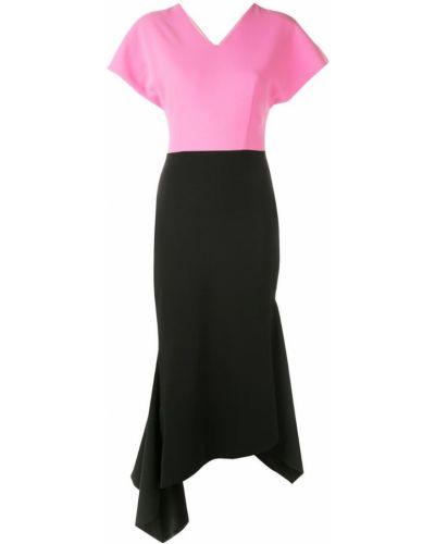 Платье мини деловое с V-образным вырезом Christian Siriano