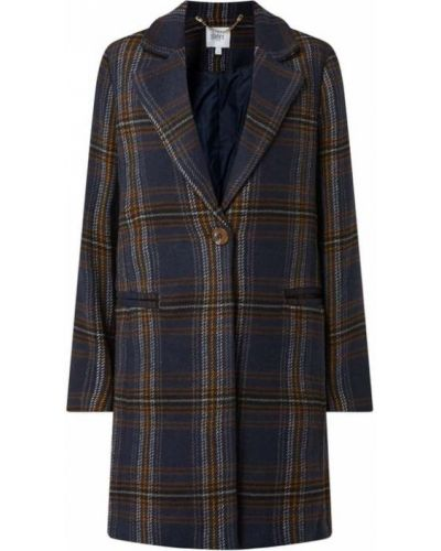 Płaszcz w kratę - niebieski Saint Tropez