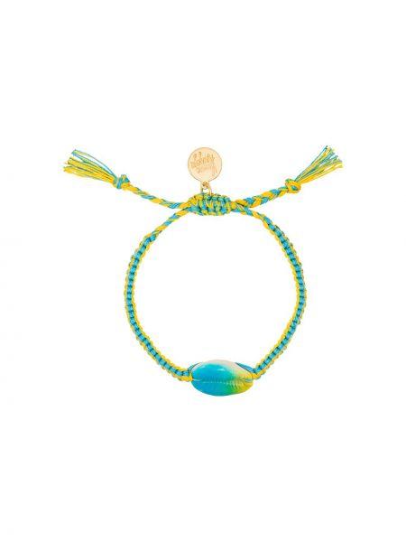 Ciepła niebieska bransoletka bawełniana Venessa Arizaga