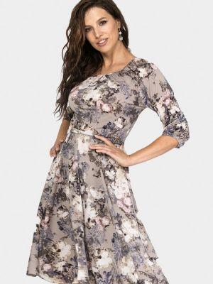 Бежевое зимнее платье Prima Linea