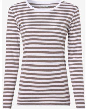 Beżowy t-shirt w paski Brookshire