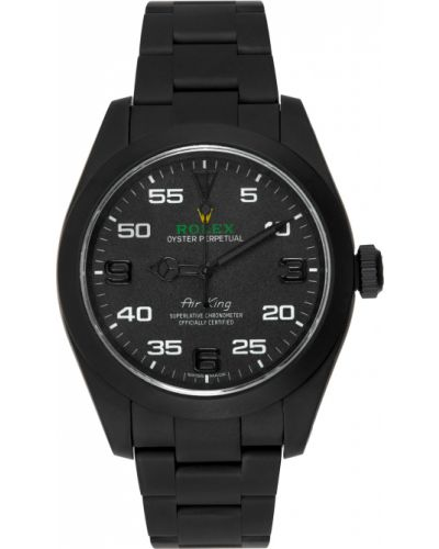 Zielony zegarek mechaniczny srebrny szafir Mad Paris
