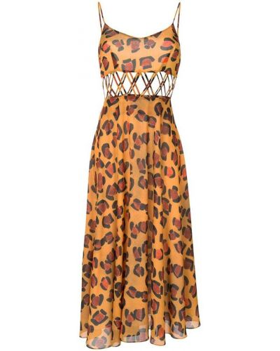 Платье леопардовое на молнии Tata Naka