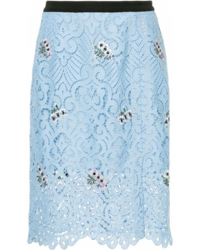 Гипюровая синяя юбка Markus Lupfer
