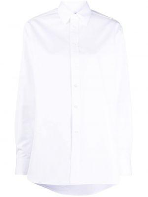 Белая рубашка с воротником свободного кроя на пуговицах Ralph Lauren