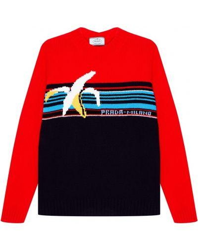Вязаный свитер в рубчик Prada