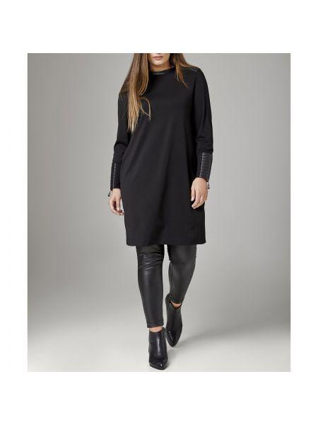 Платье миди оверсайз со вставками с V-образным вырезом на молнии Mat Fashion
