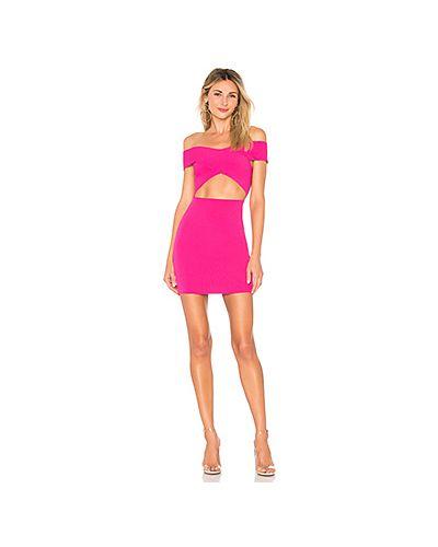 Платье мини розовое с поясом By The Way.