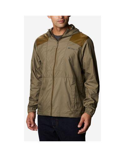 Прямая зеленая куртка на молнии Columbia