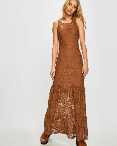 Джинсовое платье макси - коричневое Guess Jeans