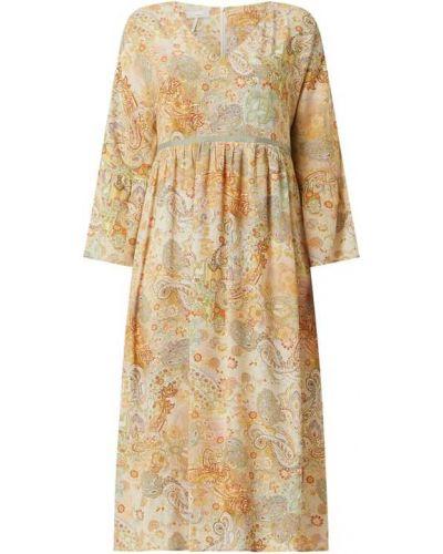 Sukienka rozkloszowana - żółta Cinque