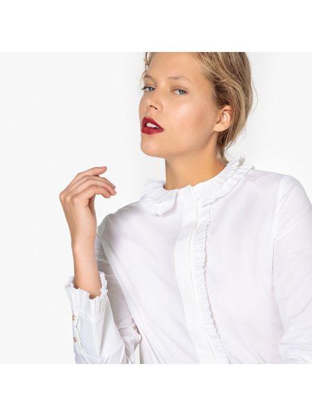 Блузка с длинным рукавом прямая с рюшами Mademoiselle R