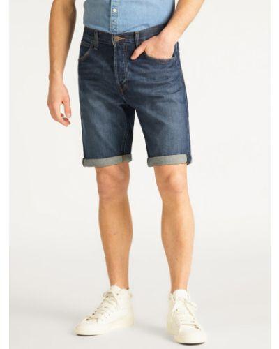 Szorty jeansowe - granatowe Lee