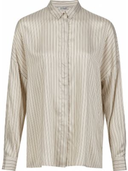 Шелковая рубашка - бежевая Cappellini