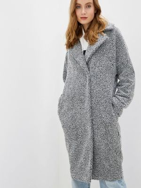 Серое зимнее пальто с капюшоном Argent