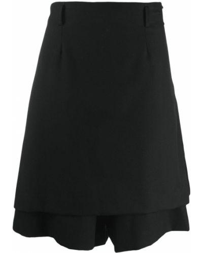 Skórzany czarny spódnica z paskiem Comme Des Garcons Homme Plus