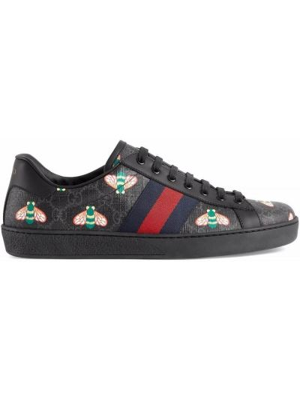 Buty sportowe skorzane - czarne Gucci