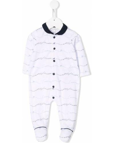 Пижама белая синяя Emporio Armani Kids