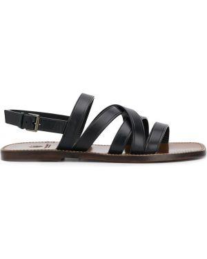С ремешком открытые синие сандалии с открытым носком Silvano Sassetti