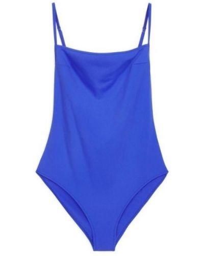 Слитный купальник с вырезом - синий Arket