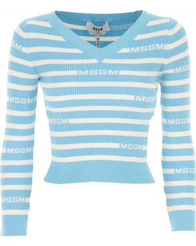 Długi sweter, biały Msgm